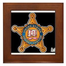 Secret Service Badge Framed Tile