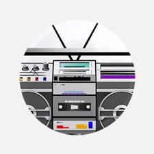 """boombox1.png 3.5"""" Button (100 pack)"""