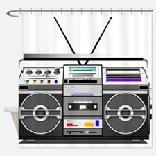 boombox1.png Shower Curtain