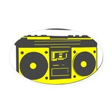 boombox2.png Oval Car Magnet