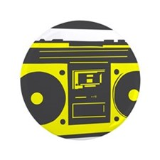 """boombox2.png 3.5"""" Button (100 pack)"""