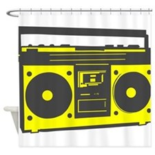 boombox2.png Shower Curtain