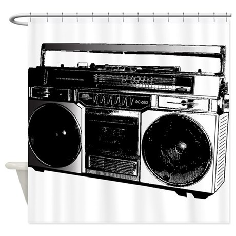Boombox5 Shower Curtain By TheBigShopofGreatStuff