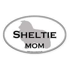 Sheltie MOM Oval Decal