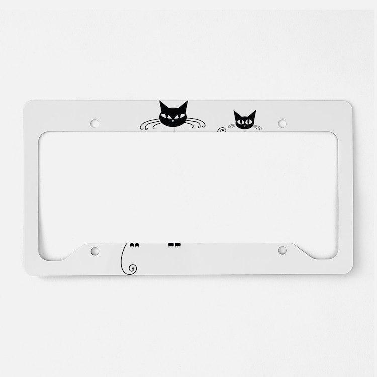 Black Cat License Plate Holder