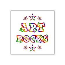 "Art Rocks Square Sticker 3"" x 3"""