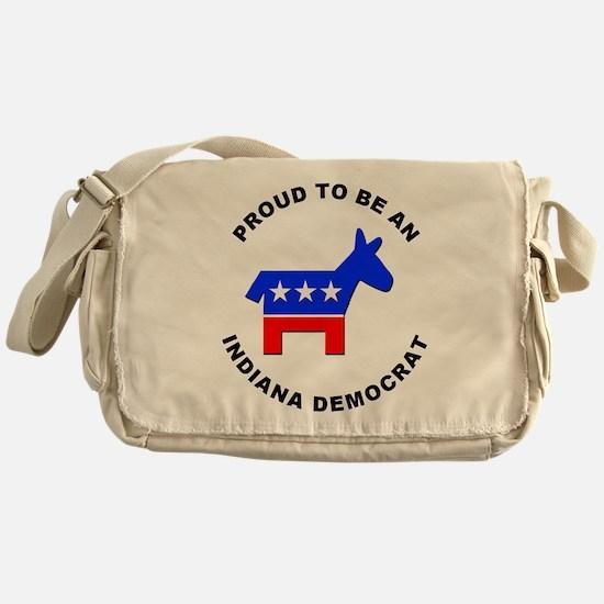 Indiana Democrat Pride Messenger Bag