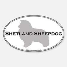 Shetland Sheepdog Oval Decal