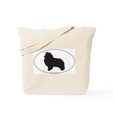 Shetland Sheepdog Silhouette Tote Bag