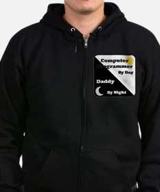 Computer Programmer by day Daddy by night Zip Hoodie