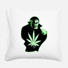 halloween_dracula02.png Square Canvas Pillow