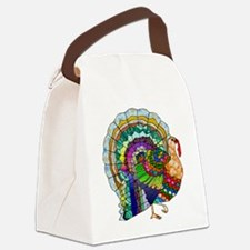 Patchwork Thanksgiving Turkey Canvas Lunch Bag