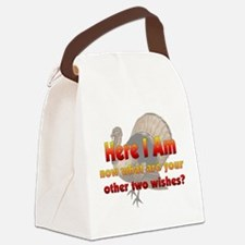 turkeyhere01.png Canvas Lunch Bag