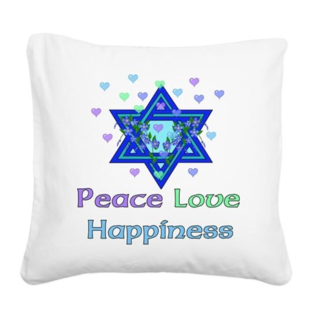 peacelove01.png Square Canvas Pillow