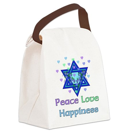 peacelove01.png Canvas Lunch Bag