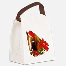 christmas_horse01.png Canvas Lunch Bag
