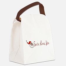 santalove01.png Canvas Lunch Bag