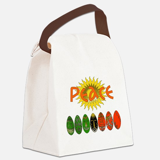 peace_shirt01.png Canvas Lunch Bag