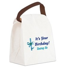 birthday_present02.png Canvas Lunch Bag