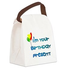 birthday_present01.png Canvas Lunch Bag