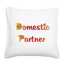 domestic_partner03.png Square Canvas Pillow