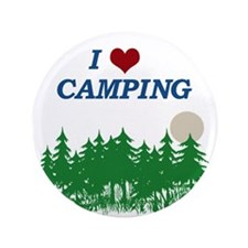 "I love camping 3.5"" Button"