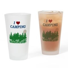 I love camping Drinking Glass
