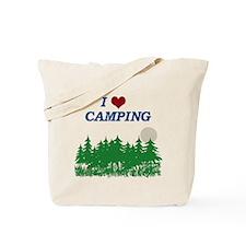 Trees/I love camping Tote Bag