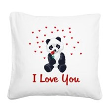iloveyou02a.png Square Canvas Pillow