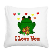 froglove01.png Square Canvas Pillow