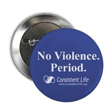 "No violence 2.25"" Button (10 pack)"