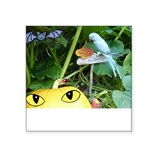 Happy Halloween Parrot and Pumpkin Square Sticker