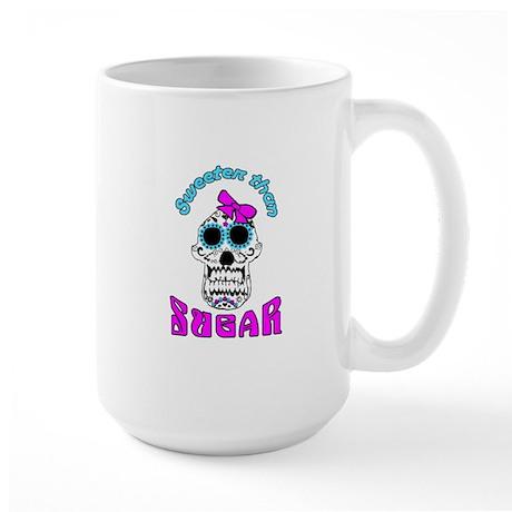 Vanilla Gorilla ink sugar skull Large Mug