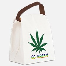 go_green01.png Canvas Lunch Bag
