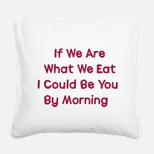 eat_me01a.png Square Canvas Pillow