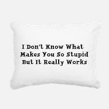 stupid01.png Rectangular Canvas Pillow