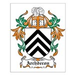 Archdecon Coat of Arms Small Poster