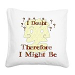 humor_doubt01.png Square Canvas Pillow