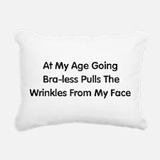braless01.png Rectangular Canvas Pillow