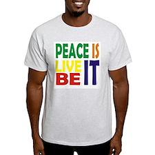 """Ash Grey """"Peace Is"""" Tee"""