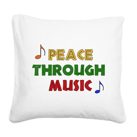 musicpeace01.png Square Canvas Pillow