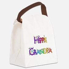hippie_grandpa01.png Canvas Lunch Bag