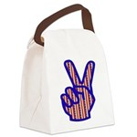 peacefingers01.png Canvas Lunch Bag