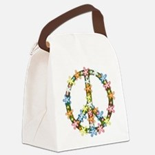 Peace Flowers Canvas Lunch Bag