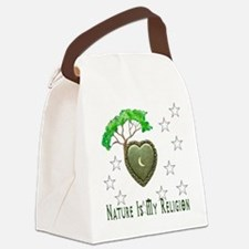 Nature Is My Religion Canvas Lunch Bag