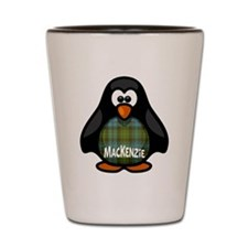 MacKenzie Tartan Penguin Shot Glass