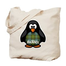 MacKenzie Tartan Penguin Tote Bag