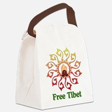 free_tibet01.png Canvas Lunch Bag