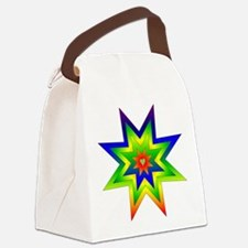 rainbow_star02.png Canvas Lunch Bag
