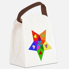 rainbow_star01.png Canvas Lunch Bag